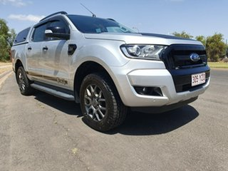 2017 Ford Ranger PX MkII XLT Double Cab Ingot Silver 6 Speed Sports Automatic Utility.