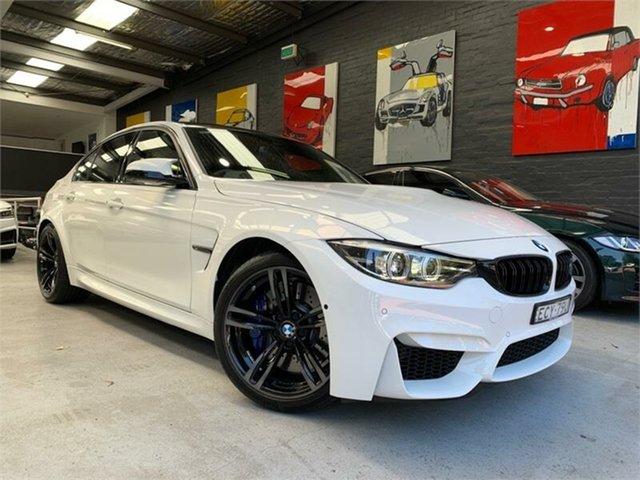 Used BMW M3 F80 LCI Pure, 2018 BMW M3 F80 LCI Pure White Sports Automatic Dual Clutch Sedan