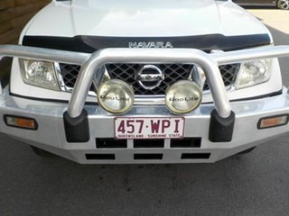 2007 Nissan Navara D40 ST-X White 6 Speed Manual Utility