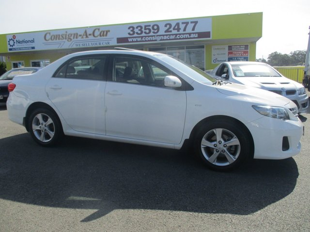 Used Toyota Corolla ZRE152R MY11 Conquest, 2011 Toyota Corolla ZRE152R MY11 Conquest White 4 Speed Automatic Sedan
