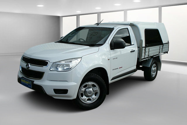 Used Holden Colorado RG MY14 DX, 2014 Holden Colorado RG MY14 DX Summit White 6 Speed Manual Cab Chassis
