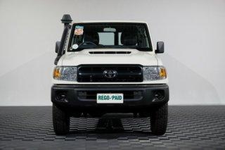 2018 Toyota Landcruiser VDJ76R Workmate French Vanilla 5 Speed Manual Wagon.