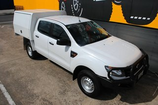2015 Ford Ranger PX XL Double Cab Cool White 6 Speed Sports Automatic Cab Chassis