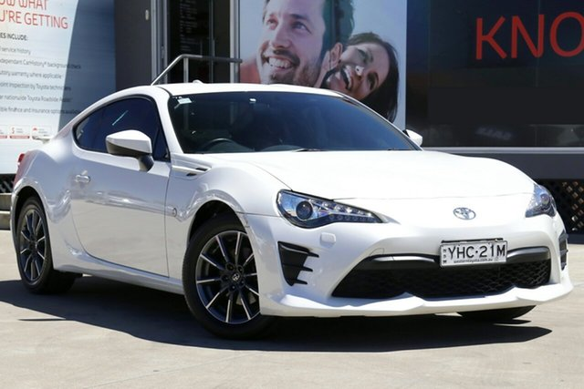 Used Toyota 86 ZN6 GT, 2017 Toyota 86 ZN6 GT Crystal White Pearl 6 Speed Sports Automatic Coupe