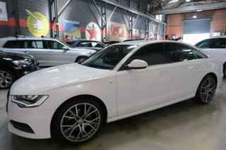 2014 Audi A6 4G MY14 Multitronic White 1 Speed Constant Variable Sedan