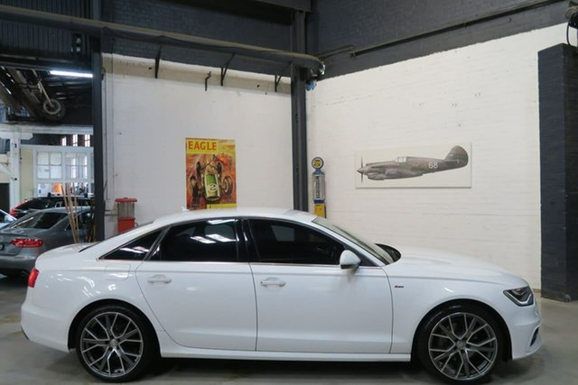 Used Audi A6 4G MY14 Multitronic, 2014 Audi A6 4G MY14 Multitronic White 1 Speed Constant Variable Sedan