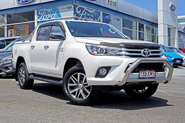 Used Toyota Hilux GUN126R SR5 Double Cab, 2017 Toyota Hilux GUN126R SR5 Double Cab White 6 Speed Sports Automatic Utility
