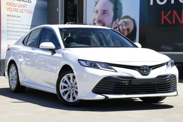Used Toyota Camry ASV70R Ascent, 2018 Toyota Camry ASV70R Ascent Glacier White 6 Speed Sports Automatic Sedan