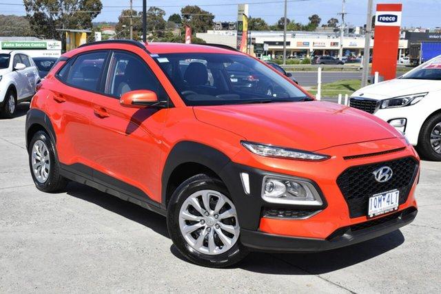 Used Hyundai Kona OS.2 MY19 Go 2WD, 2018 Hyundai Kona OS.2 MY19 Go 2WD Orange 6 Speed Sports Automatic Wagon