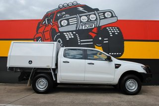 2015 Ford Ranger PX XL Double Cab Cool White 6 Speed Sports Automatic Cab Chassis.
