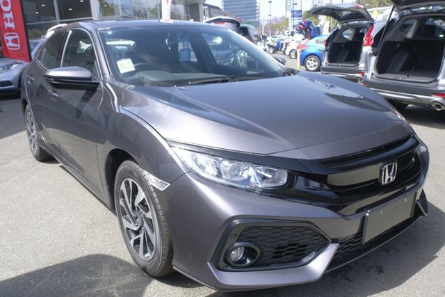 Demo Honda Civic 10th Gen MY19 +Luxe, 2019 Honda Civic 10th Gen MY19 +Luxe Modern Steel 1 Speed Constant Variable Hatchback