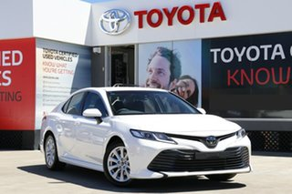 2018 Toyota Camry ASV70R Ascent Glacier White 6 Speed Sports Automatic Sedan.