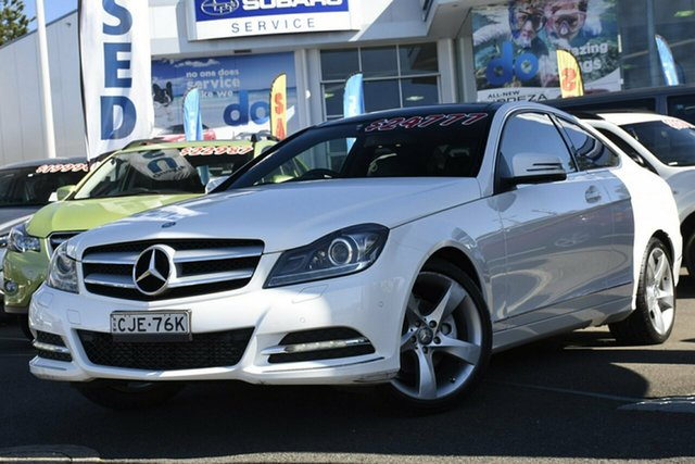 Used Mercedes-Benz C-Class C204 C250 BlueEFFICIENCY 7G-Tronic +, 2012 Mercedes-Benz C-Class C204 C250 BlueEFFICIENCY 7G-Tronic + White 7 Speed Sports Automatic Coupe