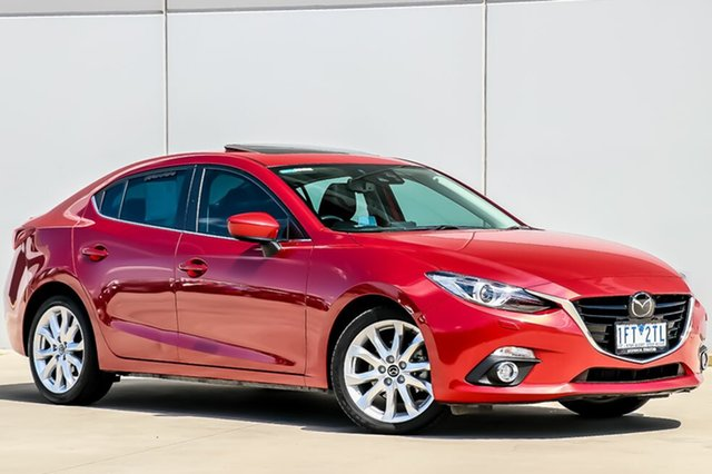 Used Mazda 3 BM5238 SP25 SKYACTIV-Drive Astina, 2015 Mazda 3 BM5238 SP25 SKYACTIV-Drive Astina Soul Red 6 Speed Sports Automatic Sedan