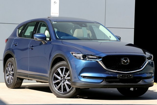 Used Mazda CX-5 KF4WLA GT SKYACTIV-Drive i-ACTIV AWD, 2018 Mazda CX-5 KF4WLA GT SKYACTIV-Drive i-ACTIV AWD Eternal Blue 6 Speed Sports Automatic Wagon
