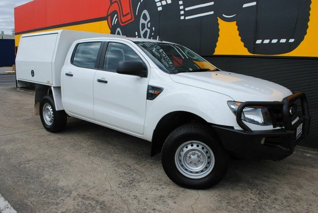 Used Ford Ranger PX XL Double Cab, 2015 Ford Ranger PX XL Double Cab Cool White 6 Speed Sports Automatic Cab Chassis