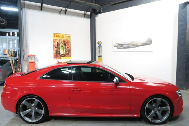 Used Audi RS5 8T MY13 S Tronic Quattro, 2012 Audi RS5 8T MY13 S Tronic Quattro Red 7 Speed Sports Automatic Dual Clutch Coupe