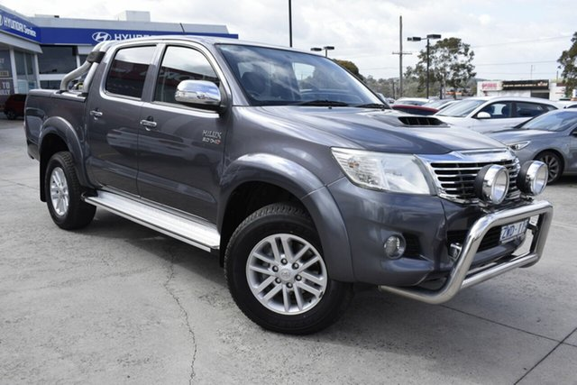 Used Toyota Hilux KUN26R MY12 SR5 Double Cab, 2013 Toyota Hilux KUN26R MY12 SR5 Double Cab Grey 4 Speed Automatic Utility