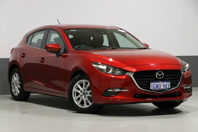 Used Mazda 3 BM MY15 Maxx, 2016 Mazda 3 BM MY15 Maxx Red 6 Speed Automatic Hatchback