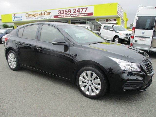 Used Holden Cruze JH Series II MY16 Equipe, 2016 Holden Cruze JH Series II MY16 Equipe Black 6 Speed Sports Automatic Hatchback
