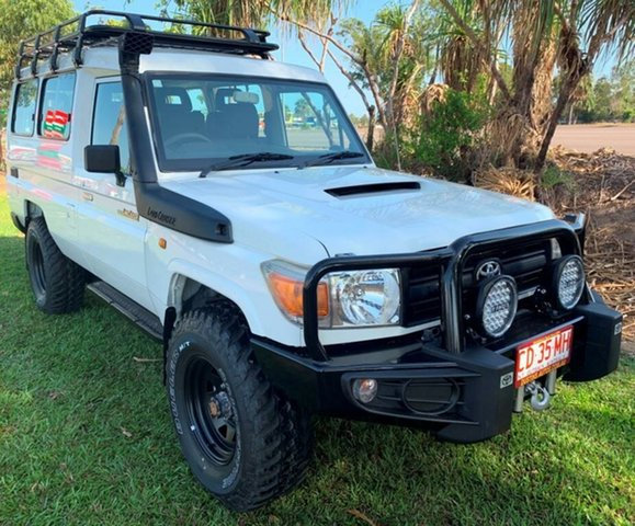 Used Toyota Landcruiser VDJ78R MY10 Workmate Troopcarrier, 2012 Toyota Landcruiser VDJ78R MY10 Workmate Troopcarrier White 5 Speed Manual Wagon