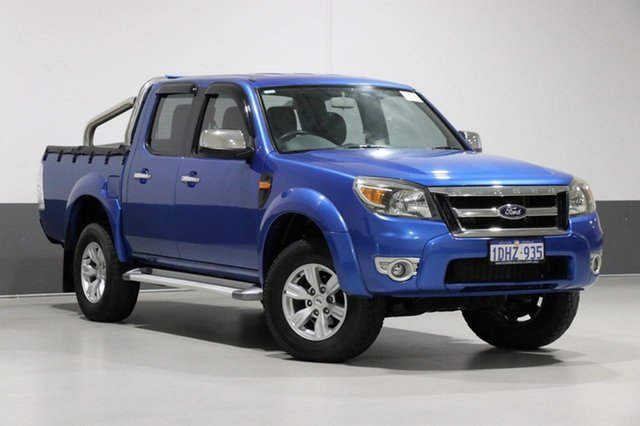Used Ford Ranger PK XLT (4x4), 2010 Ford Ranger PK XLT (4x4) Blue 5 Speed Automatic Dual Cab Pick-up