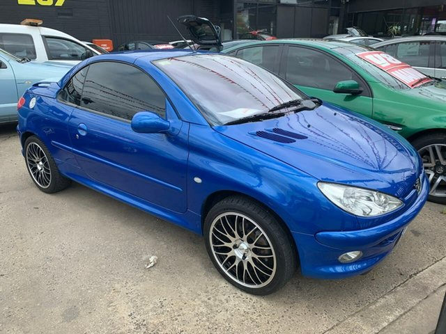 Used Peugeot 206 T1 MY02 CC, 2002 Peugeot 206 T1 MY02 CC Blue 4 Speed Automatic Cabriolet