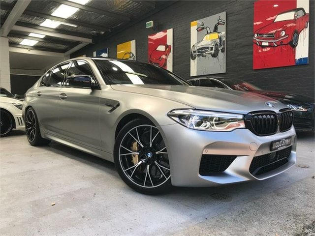 Used BMW M5 F90 Competition, 2018 BMW M5 F90 Competition Matte Grey Sports Automatic Sedan