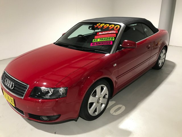 Used Audi A4 B6 Multitronic, 2003 Audi A4 B6 Multitronic Red 1 Speed Constant Variable Cabriolet