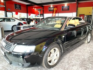 2003 Audi A4 B6 Multitronic Black 1 Speed Constant Variable Cabriolet.