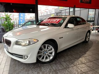 2011 BMW 5 Series F10 MY11 535i Steptronic White 8 Speed Sports Automatic Sedan