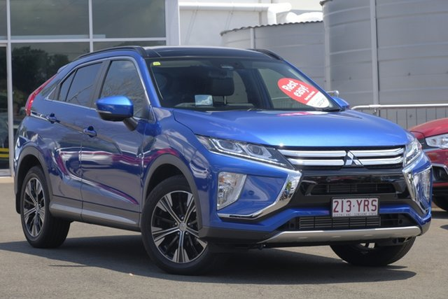 Used Mitsubishi Eclipse Cross YA MY18 Exceed AWD, 2018 Mitsubishi Eclipse Cross YA MY18 Exceed AWD Lightning Blue 8 Speed Constant Variable Wagon
