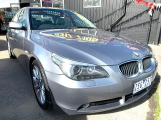 2004 BMW 5 Series E60 525i Steptronic Silver 6 Speed Sports Automatic Sedan.