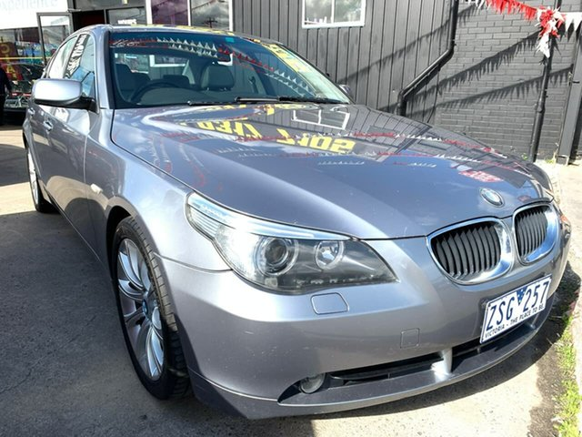 Used BMW 5 Series E60 525i Steptronic, 2004 BMW 5 Series E60 525i Steptronic Silver 6 Speed Sports Automatic Sedan