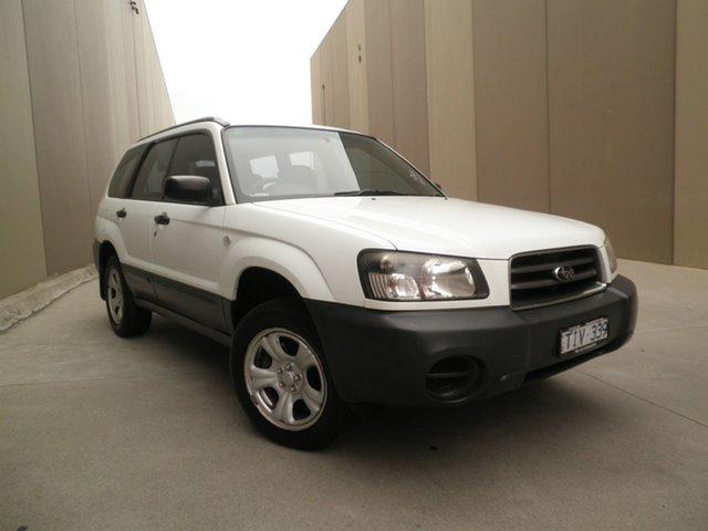 Used Subaru Forester 79V MY05 X AWD, 2005 Subaru Forester 79V MY05 X AWD White 4 Speed Automatic Wagon