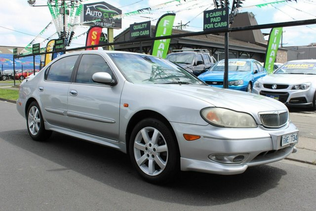 Used Nissan Maxima A33 MY2003 ST-R West Footscray, 2003 Nissan Maxima A33 MY2003 ST-R Silver 4 Speed Automatic Sedan