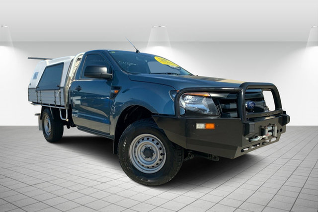 Used Ford Ranger PX XL, 2014 Ford Ranger PX XL Blue 6 Speed Sports Automatic Cab Chassis