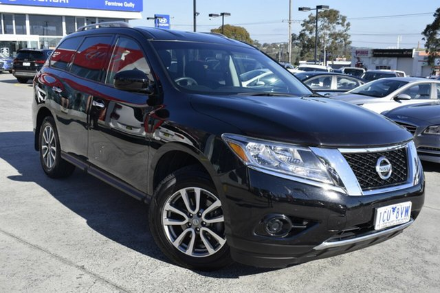 Used Nissan Pathfinder R52 MY14 ST X-tronic 2WD, 2014 Nissan Pathfinder R52 MY14 ST X-tronic 2WD Black/Grey 1 Speed Constant Variable Wagon