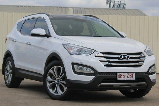 Used Hyundai Santa Fe DM MY14 Highlander, 2014 Hyundai Santa Fe DM MY14 Highlander White 6 Speed Sports Automatic Wagon