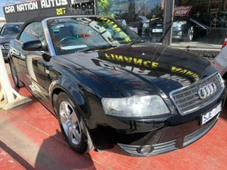 2003 Audi A4 B6 Multitronic Black 1 Speed Constant Variable Cabriolet