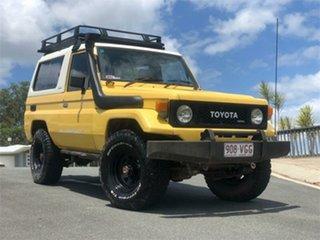 1985 Toyota Landcruiser BJ73 Yellow 5 Speed Manual Hardtop.