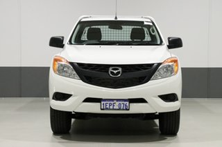 2014 Mazda BT-50 MY13 XT Hi-Rider (4x2) White 6 Speed Manual Dual Cab Chassis.