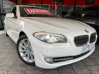 2011 BMW 5 Series F10 MY11 535i Steptronic White 8 Speed Sports Automatic Sedan.