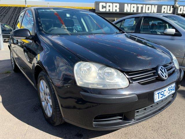 Used Volkswagen Golf V Trendline DSG, 2005 Volkswagen Golf V Trendline DSG Black 6 Speed Sports Automatic Dual Clutch Hatchback