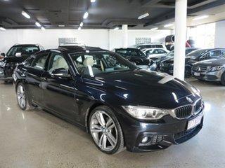 2015 BMW 4 Series F36 420i Gran Coupe M Sport Black 8 Speed Sports Automatic Hatchback.