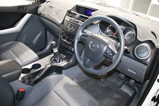 2014 Mazda BT-50 MY13 XT Hi-Rider (4x2) White 6 Speed Manual Dual Cab Chassis