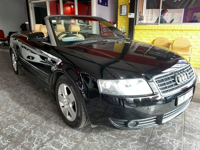 Used Audi A4 B6 Multitronic, 2003 Audi A4 B6 Multitronic Black 1 Speed Constant Variable Cabriolet