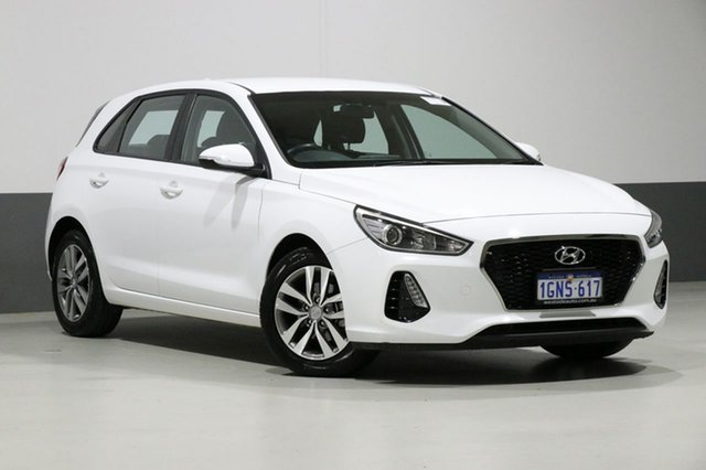 Used Hyundai i30 PD2 MY19 Active, 2018 Hyundai i30 PD2 MY19 Active White 6 Speed Automatic Hatchback