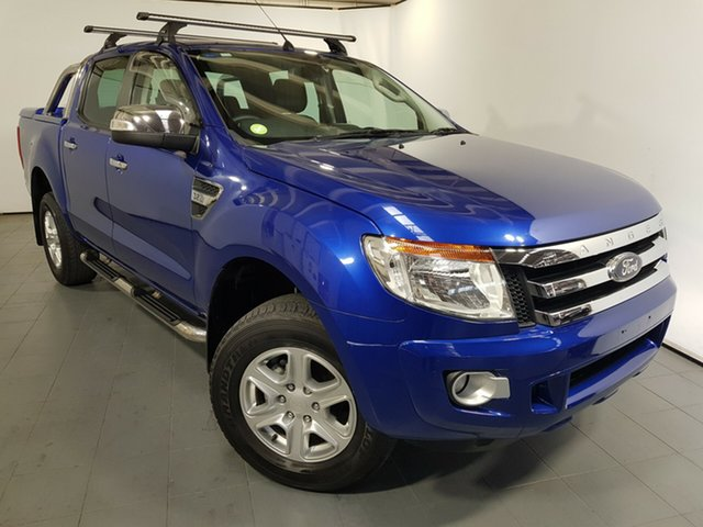 Used Ford Ranger PX XLT Double Cab, 2011 Ford Ranger PX XLT Double Cab Blue 6 Speed Sports Automatic Utility