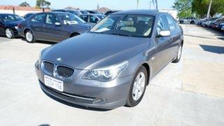 2008 BMW 5 Series E60 MY08 520d Steptronic Silver 6 Speed Sports Automatic Sedan.